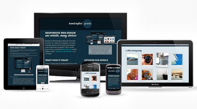 Eine Webseite - Alle Geräte